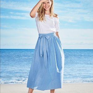 Vineyard & Vines for Target Stripped Midi Skirt
